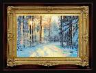 "ORIGINAL Oil Painting Handmade Arseni ~ CHRISTMAS 6"" X 4"" NO FRAME Artist Art3"