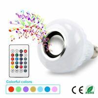 Inteligente E27 RGB Bluetooth Altavoz LED Bombilla 12W Música Juego Regulable