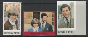 Grenada Grenadines - 1981, Royal Wedding 2nd series set - Adhesive - SG 450/2