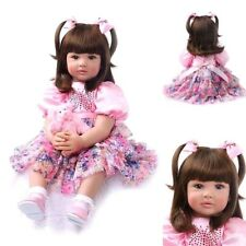 Reborn Baby Girl Doll Realistic Dolls Lifelike Babies Toys Gift Silicone Toddler