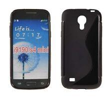 Silikonhülle f. Samsung GALAXY S4 MINI Silicon Case Silikon Cover Schwarz S-Case