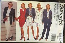 Butterick Pattern 6657 Size 6,8,10 Misses Jacket, Skirt, Shorts & Pants UNCUT