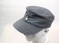 WWII German WH Elite EM M43 Panzer Wool Field Cap Hat Grey  57 58 59 60