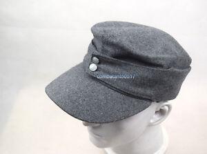 WWII German WH Elite EM M43 Panzer Wool Field Cap Hat Grey  57 58 59 60cm