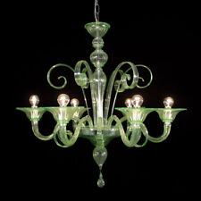 Firenze lustre en verre de Murano 6 lumières vert