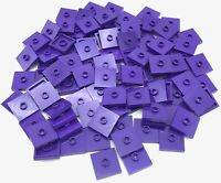 Lego 100 New Dark Purple Plates Modified 2 x 2 with Groove and 1 Stud in Center