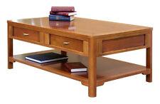 Table basse de salon 2 tiroirs double face, table basse en bois, meuble italien