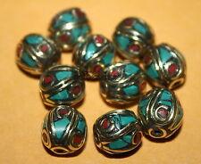 Nepal beads turquoise beads 10 Nepalese Beads Tibet Beads Bohemian beads BD904
