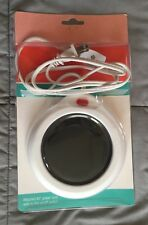 DESKTOP Coffee Warmer CUP PAD Electric MUG HEATING PLATE w/Cord WHITE