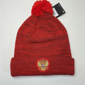 New Russia National Team Hat Beanie Nike Red Knit Hockey Soccer Adult OSFA