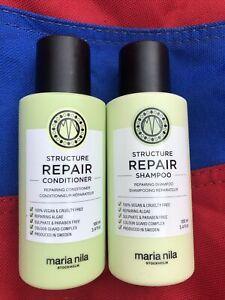 Maria Nila Structure Repair Shampoo Conditioner Mini Set 100ml Each Brand New