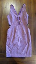 Women's Rose Plunge cut out design dress sz 6 BNWOT free post E75,e78
