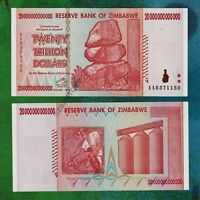 20 Trillion Zimbabwe Dollars Bank Note AA 2008 Currency - Series 50 100 Trillion