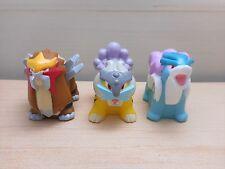 Pokemon Kids Raikou Entei Suicune Finger Puppet Figure Set of 3 Bandai Rare