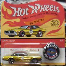 1968 Cougar Gold * 50th Anniversary Redline Button * 2018 Hot Wheels NEW