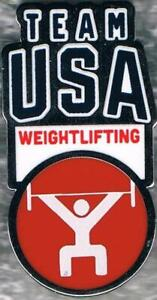 2020 Tokyo USA Olympic Weightlifting Team NOC Pin