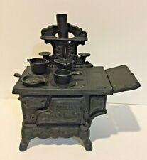 Rescent Cast Iron Mini Replica Wood Stove Set with Accessories