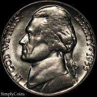 1955-D Jefferson Nickel 5c ~ BU Uncirculated ~ US Coin