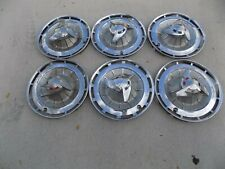 """Six Hub Caps 14"""" Inch Chevy Impala Belair Biscayne Spinner 61 62 63"""