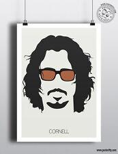 CHRIS CORNELL - Minimalist Music Hair Poster Posteritty Minimal Soundgarden