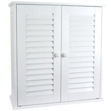 Bathroom Storage Cabinet Wall Mounted Double Shutter Door -  White