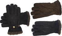 Lederhandschuhe Handschuhe echt Leder mit Lederbandschließe LAKOTA