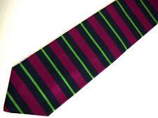 "Brooks Brothers Makers Mens Necktie Tie Navy Blue Purple Green Striped Repp 57"""