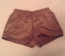 H&M Coachella Sz 8 Brown Polyester Casual Shorts F3