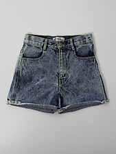 Missguided womens blue hot pants denim shorts size 8 (W8011)