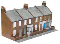 Four Red Brick Terraced Fronts - Superquick C6 - OO Low Relief kit -