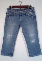 Vigoss Jean Capri Jeans Distressed Blue Women's Size 5