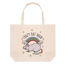 Rainbow Loco Rata Hombre Grande Playa Bolso Hombro-animales graciosos