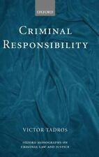 Criminal Responsibility: By Tadros, Victor