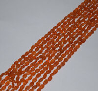 Natural Stone Carnelian Carved Oval Gemstone Beads 5X7mm to 6X10mm AAA 13 Inch