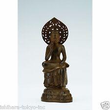 Bodhisattva Maitreya (Brown) (Replica) : Alloy Buddha Statue - Japan's Treasure