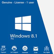 Windows 8.1 Professional Product Key 32/64-bit Genuine License For 1 PC