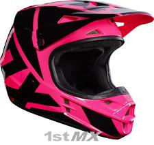 Fox V1 Race Motocross Off Road Race Helmet Race Pink Black Adults XLarge 61-62cm