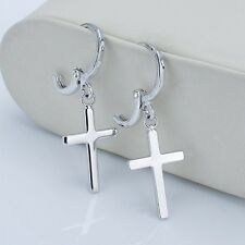 Cross Earrings Fashion Dangle Charms Jewelry 18k White Gold Filled Hot Gift