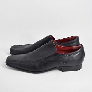 Red Tape Men's Size EU 46 / US 12 Black Leather Dress Shoes