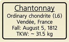 Meteorite label Chantonnay
