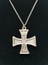 German Iron Cross Crown Emblem Medal Necklace FW 1813-1914 w/ Oak Leaves