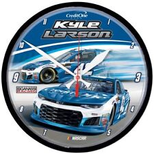 "Kyle Larson 2018 Wincraft #42 Credit One Bank 12"" Round Wall Clock FREE SHIP!"