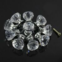 10pcs Clear Acrylic Door Pull Knob Drawer Cabinet Cupboard Handle 26mm Hardware