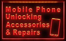 AB007 Mobile Phone Accessories Repairs LED Light Sign Bar Beer Pub Store