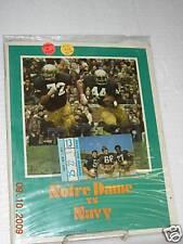 Notre Dame vs. Navy Program w/ticket - 11/3/73