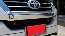 Fit For Toyota Fortuner SUV 2015 2016 2017 Chrome Front Bumper Cover Trim