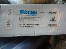 Webstone 51406 1-1/2 FIP x Rotating Uni Flange Ball Valve w/Detach Flange NEW