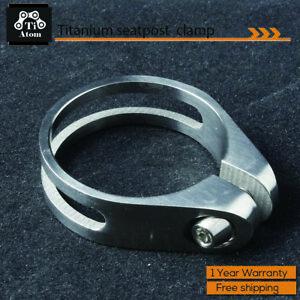 TiAtom/ Full Titanium Seatpost Clamp/Collar 31.8/34.9MM-13g-Ti-Super/Ultra Light