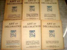 ART & DECORATION 1924 1er Sem. 6/6 ART DECO DUFRENE MARCEL LENOIR JAVA WAYANG
