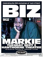 Biz Markie 2014 Portland Concert Tour Poster - Hip Hop, Rap Music, Just A Friend